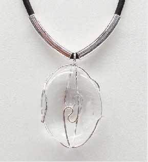 Hanger bergkristal - Circles Art&Jewelry - Zwijndrecht
