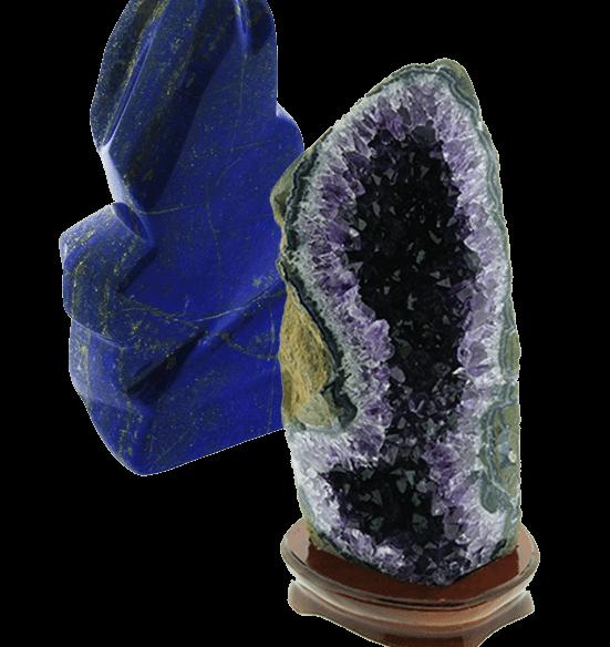 Mineralen - Lapis Lazuli en Amethist - Circles Art&Jewelry - Zwijndrecht