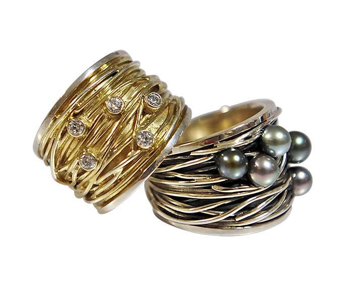 Draadringen van Vinx goud met zilver - Circles Art&Jewelry - Zwijndrecht