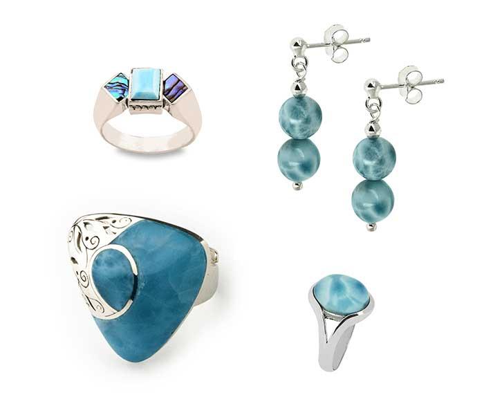 Sieraden zilver met Larimar - Circles Art&Jewelry - Zwijndrecht