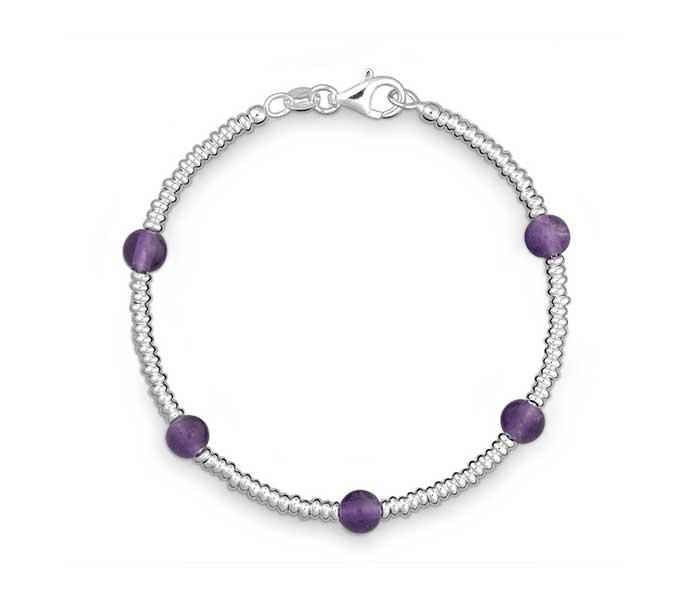 Armband bergkristal Amethist - Circles Art&Jewelry - Zwijndrecht