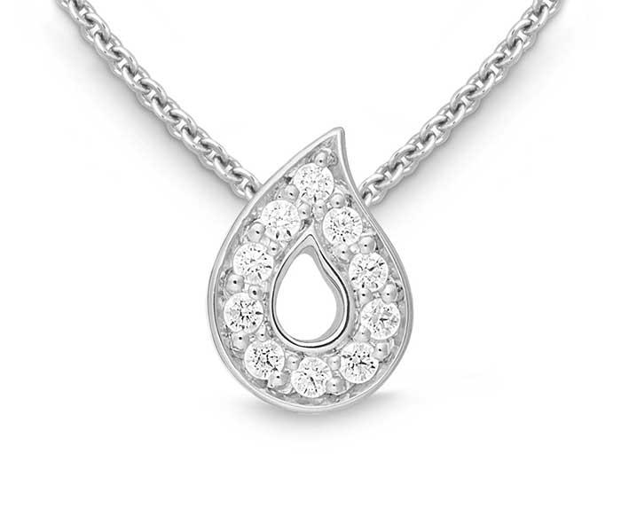 Witgouden hanger met briljant - Circles Art&Jewelry - Zwijndrecht