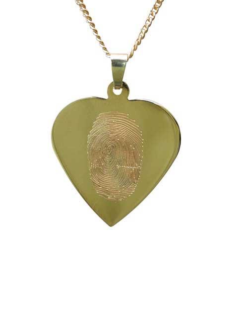 Geelgouden hartje met vingerafdruk - Circles Art&Jewelry - Zwijndrecht