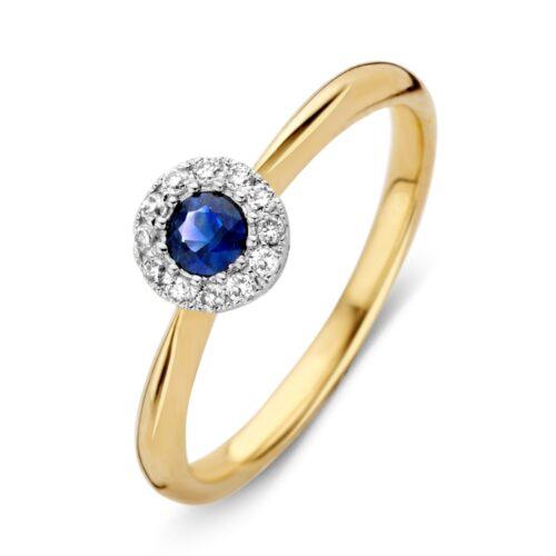 Ring bicolor briljant+saffier
