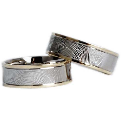 Trouwringen met vingerafdruk - bicolor - Circles Art&Jewelry - Zwijndrecht
