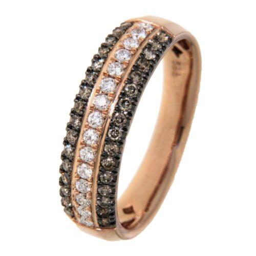 Ring roségoud briljant 0.54 crt.