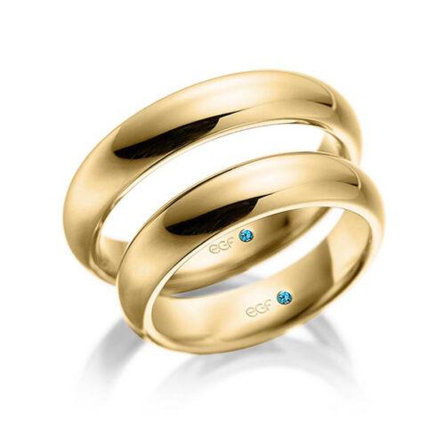 Trouwringen geelgoud-Circles Art&Jewelry-Zwijndrecht
