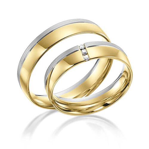 Trouwringen-in-geel-en-witgoud-en-drie-diamanten-Circles-Art&Jewelry-Zwijndrecht