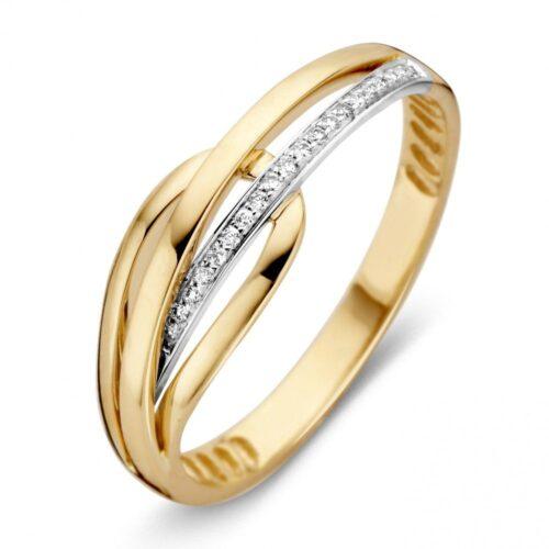 Ring bicolor briljant 0.05 crt.