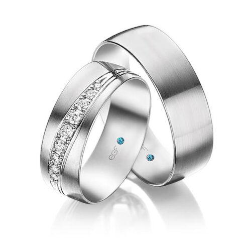 7 mm brede witgouden trouwringen-9 diamanten-webshop Circles Art&Jewelry-Zwijndrecht