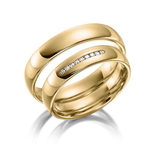 Trouwringen-geelgoud-met-diamant-Circles-Art&Jewelry-Zwijndrecht