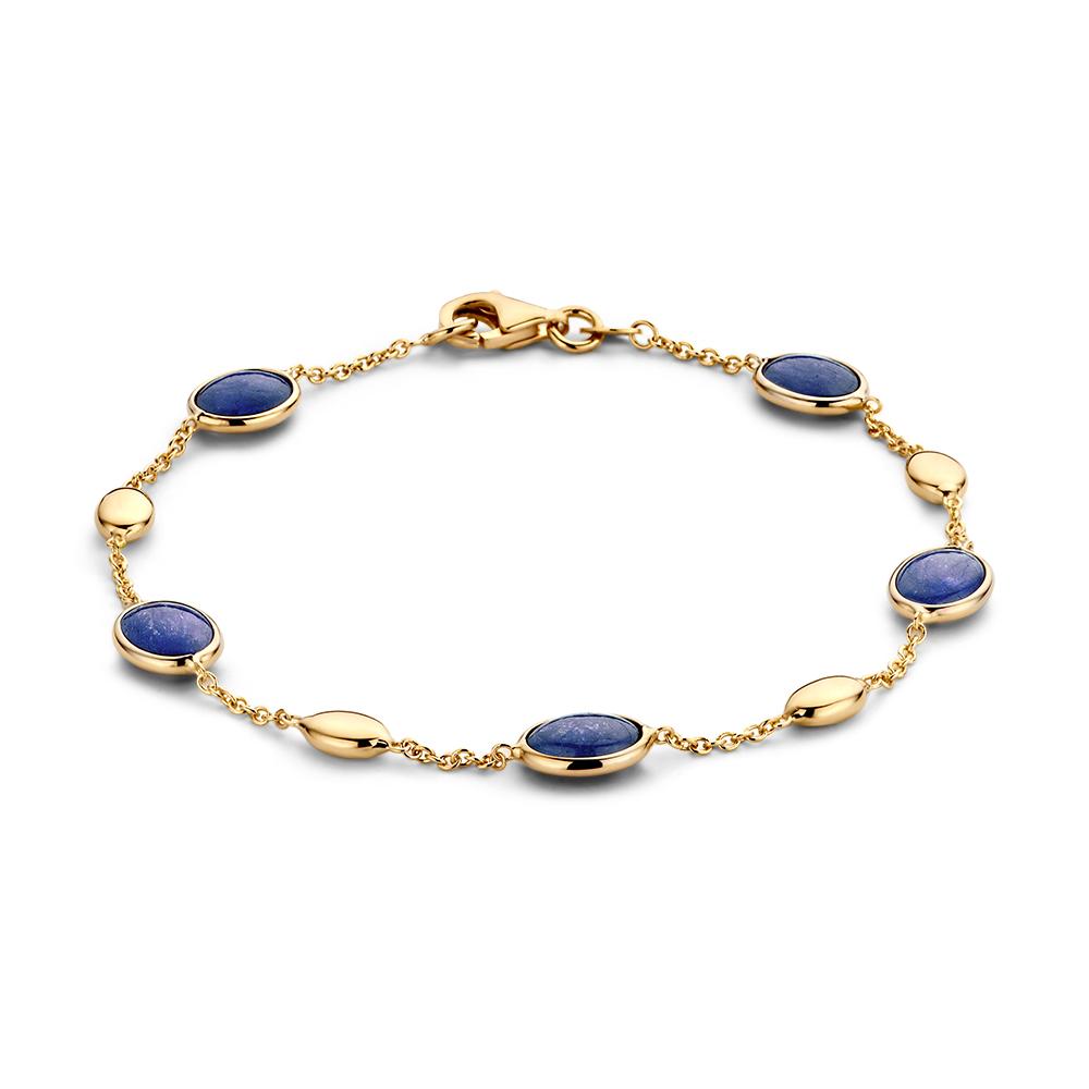 exclusieve sieraden Rotterdam online-armband-geelgoud-edelsteen-Circles Art and Jewelry-Zwijndrecht