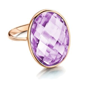 ring-rosegoud-amethist-exclusieve sieraden Rotterdam online- Collectie Circles Art and Jewelry - Zwijndrecht