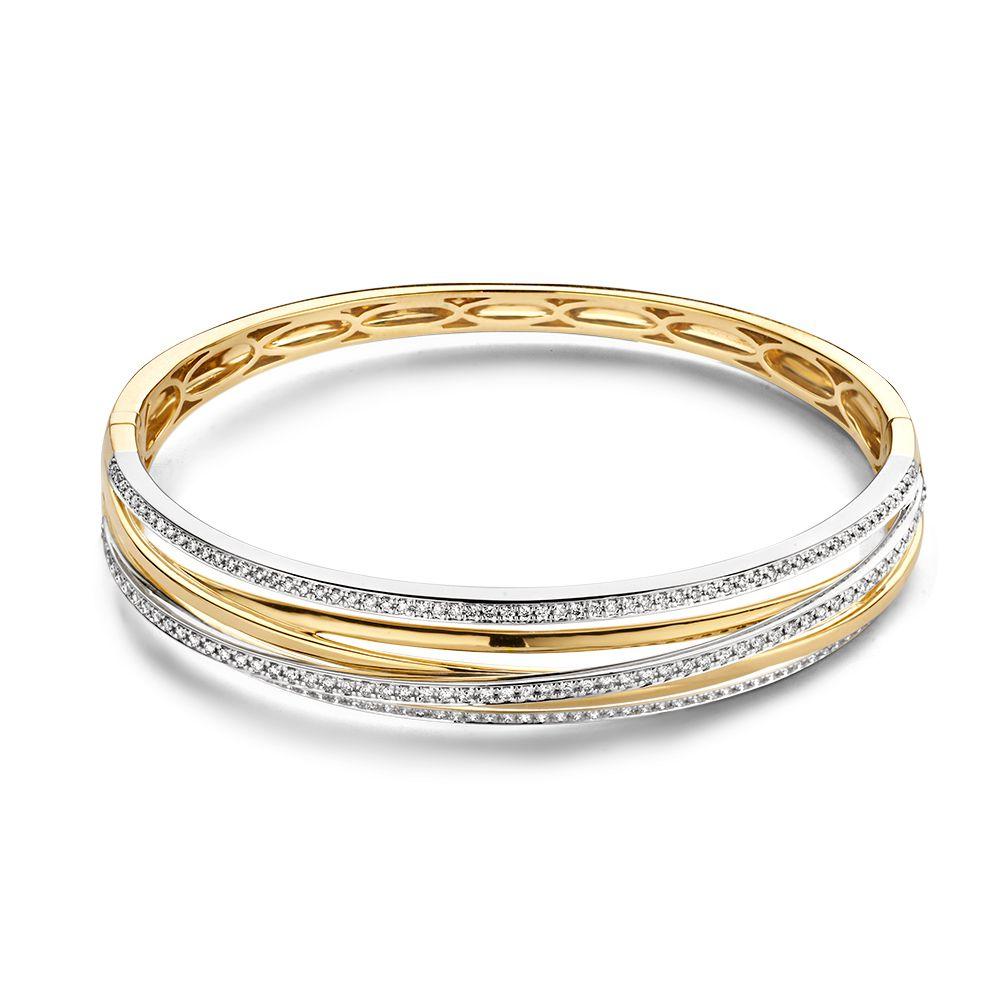 armband-bicolor-briljant-1-03-crt-Exclusieve sieraden Rotterdam online-Circles Art and Jewelry-Zwijndrecht