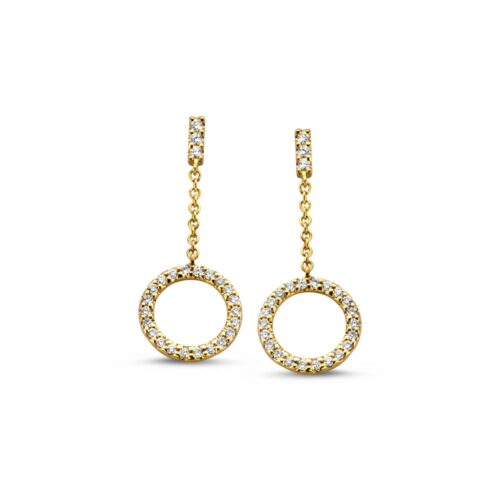 oorsteker-geelgoud-briljant-0-12-crt-Collectie Circles Art&Jewelry-Zwijndrech