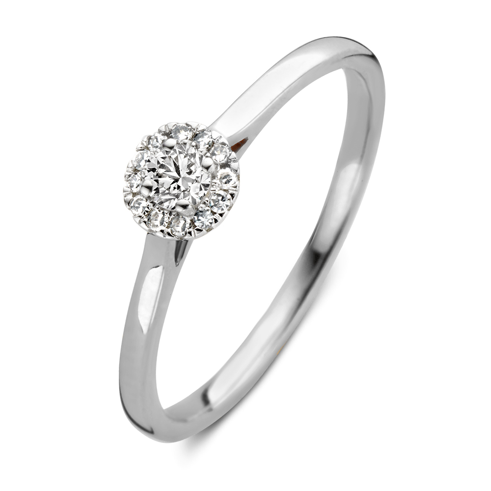 Witgouden verlovingsringen online - Circles Art&Jewelry